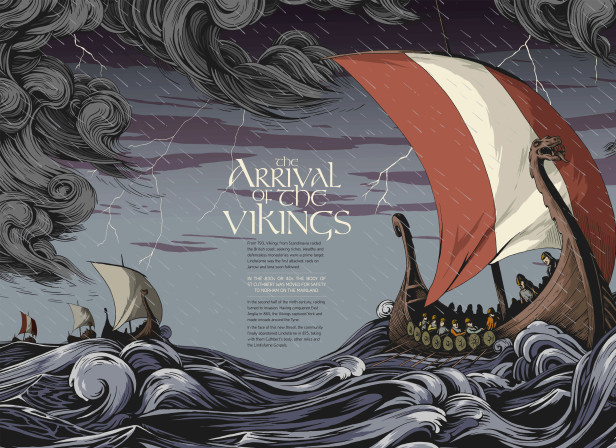 Lindesfarne Gospels Exhibition Vikings