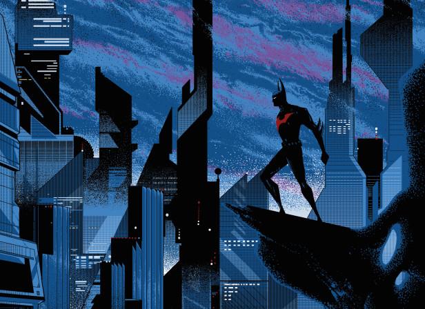 Mondo Batman Beyond Mondo Screenprinted Poster