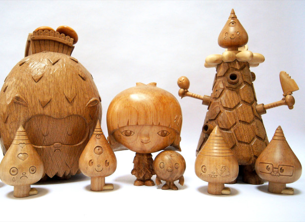 Cannibal Funfair Wood Sculptures