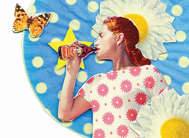 Summer Beer Refreshment Collage