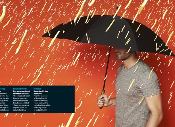 Raining French Fries / Mens Health Magazine