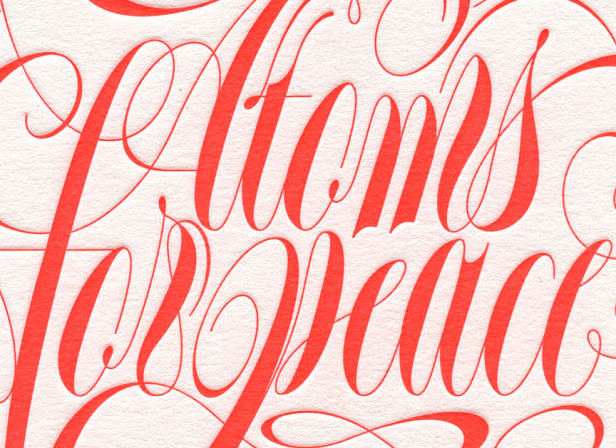 Atoms For Peace Letterpress Poster