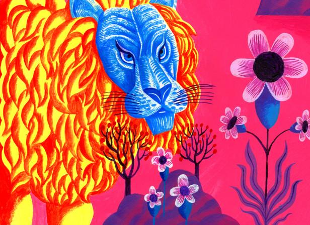 Lion and Bluebird