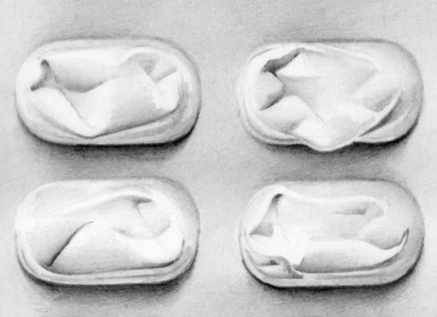 Medicine Tablets In Foil