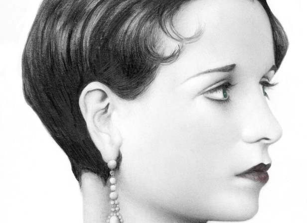 Lady's Profile With Large Earring
