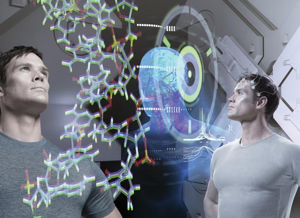 DNA Brain Holographic Display Mens Health Magazine