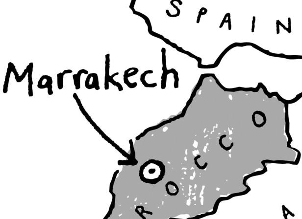 Marrakech Morocco Map Location