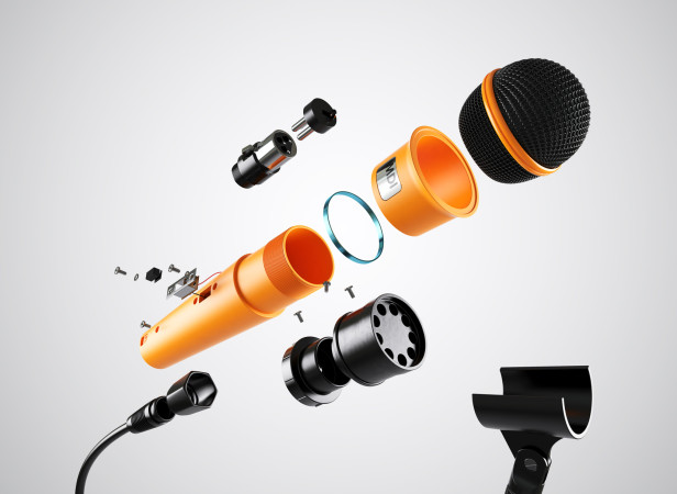 Exploded Mic