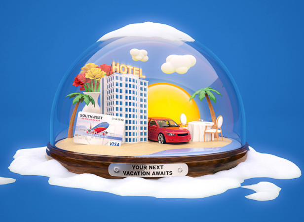 Southwest Airlines Snowglobe