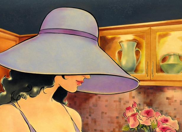 Aya Kitchens Woman Interior Vintage Poster