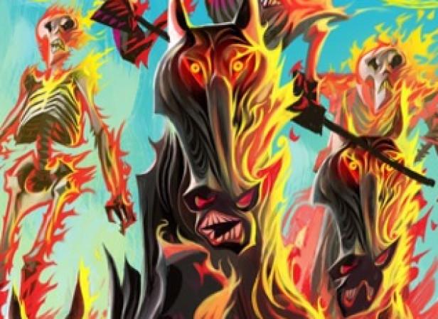 Flaming Horses