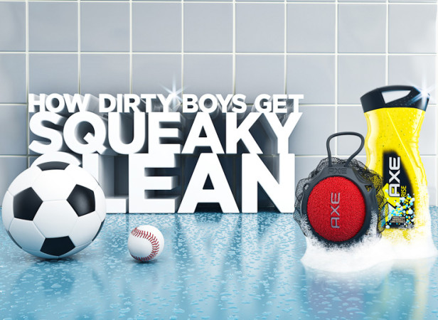AXE Squeaky Clean Poster
