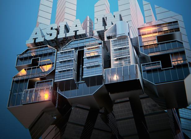 Futuristic Buildings 3D Type Cover Finance Asia Magazine