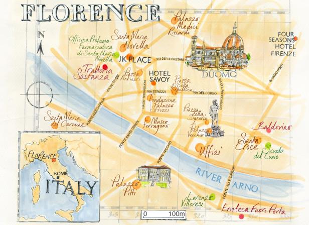 Florence Map / Conde Nast Traveller Magazine