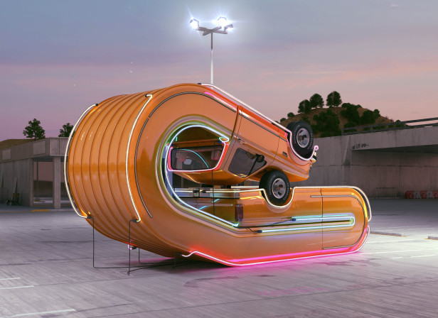 Neon Pickup / Tales Of Auto Elasticity