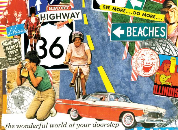 US Roadtrip Roadsigns Journey