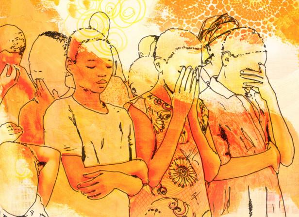 African Children Prayer