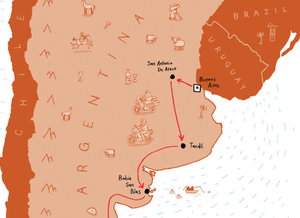 Hairy Bikers Argentina Map Route