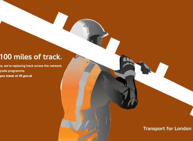 Transport For London New Tracks 48 Sheet Poster