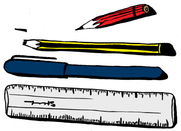 Pens And Ruler