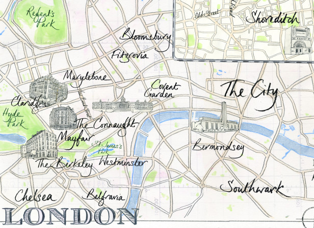 Contemporary Art Map / Conde Nast Mayborne Magazine