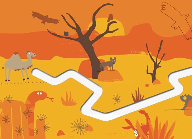 Follow the Trail Around the World Desert