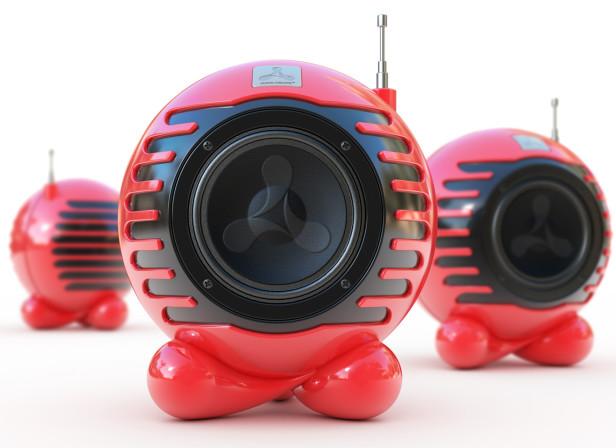 Cream Speakers