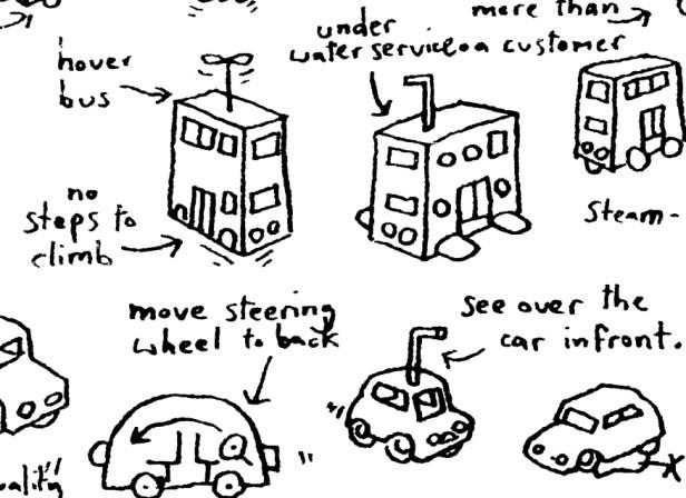 Brainstorm Hand Drawn London Buses 2