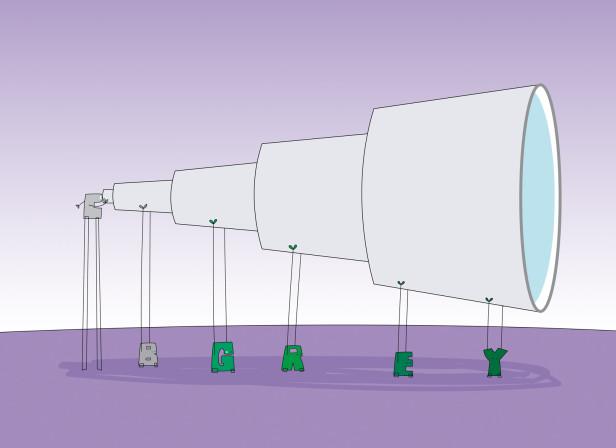 Paris Telescope CB Grey