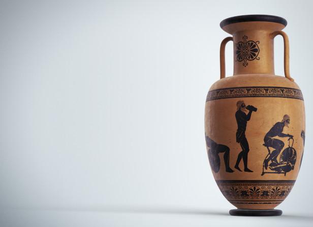 Greek Vase Fitness Regime Men's Fitness