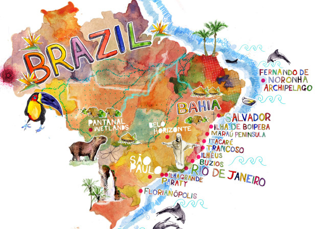 Map of Brazil / Conde Nast Traveller