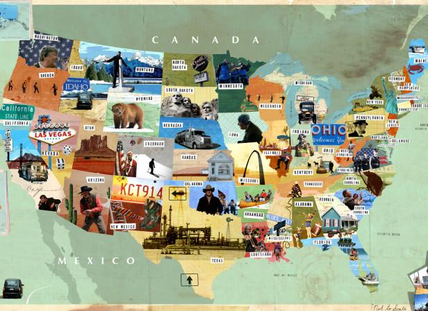Stephen Fry in America Map Harper Collins