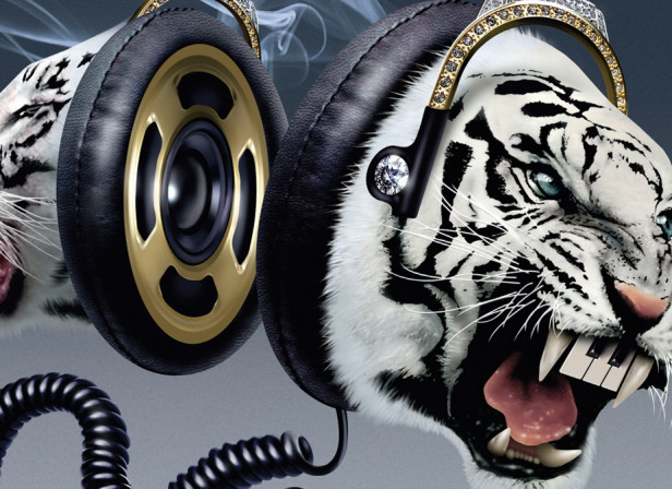 Nokia Music Almighty Headphones Tigers