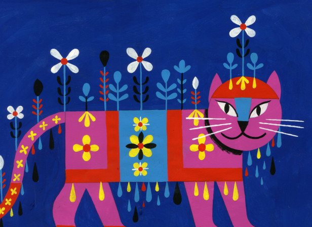 Cat with Flower Hat.JPG
