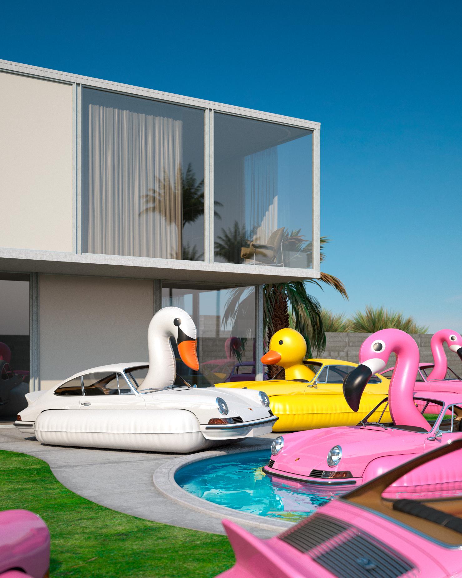 flock of porsche flamingos.jpg