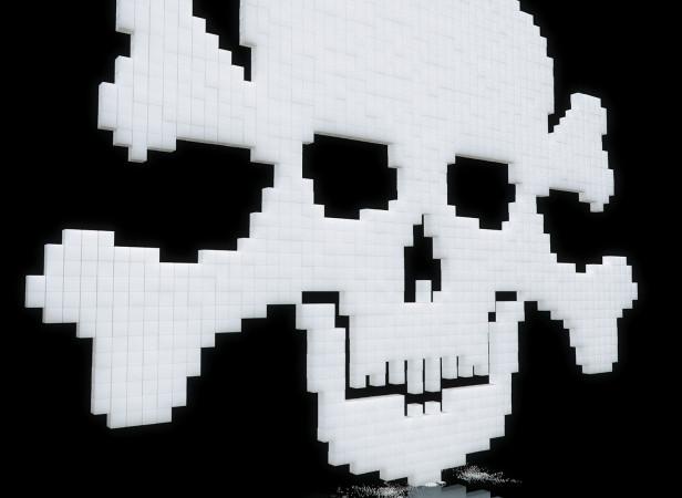 Sugar Cube Skull & Crossbones