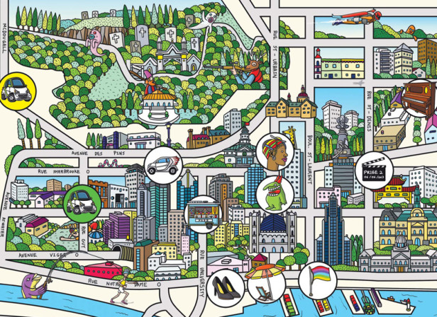 Montréal Map / Smart Car