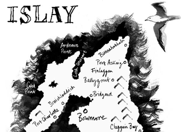 Islay Map / Bowmore