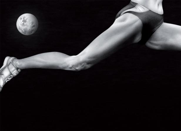 Athlete Legs Full Stretch Detail