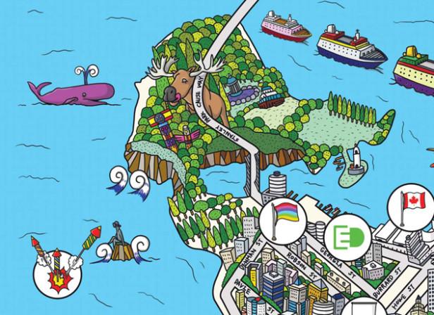 Vancouver Map / Smart Car
