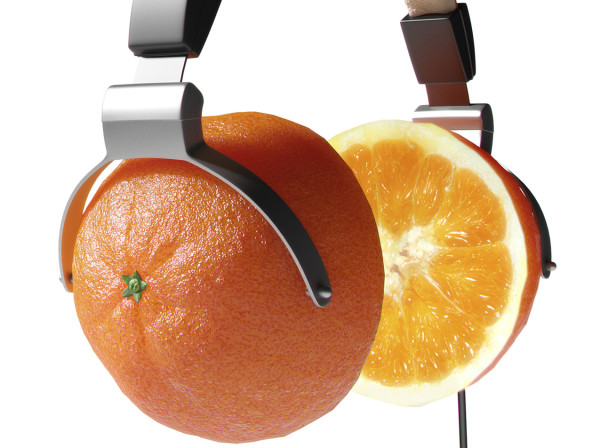 Vitamin C Orange Headphones Men's- Heath Magazine