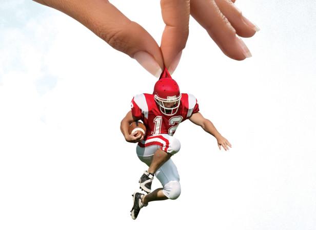 Picking Up The Footballer