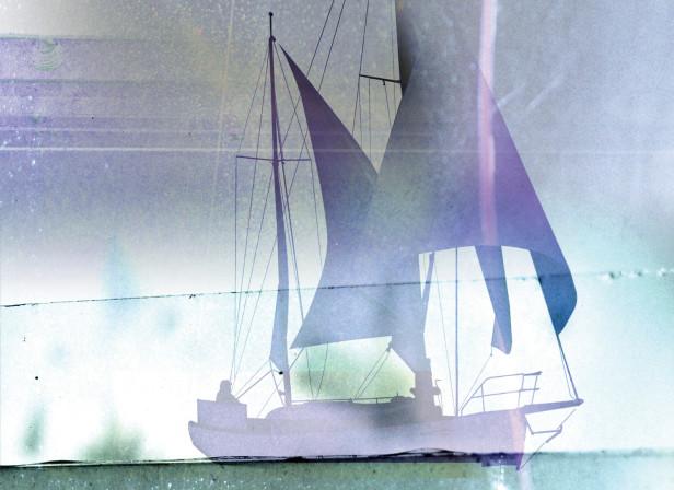 Peaceful Sailing Calm Sea
