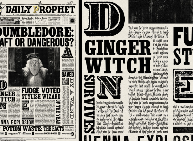 Harry Potter The Daily Prophet Dumbledore Cover