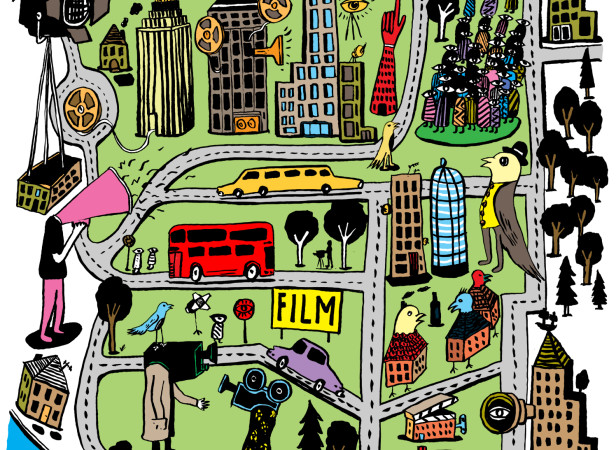 Film Poster Map / Collaboration With Harry Malt