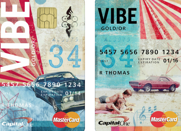 Master Card Credit Card Test Piece / Capital One Bank