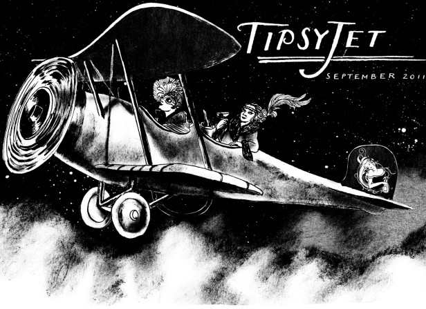 Berlin Club Flyer Plane