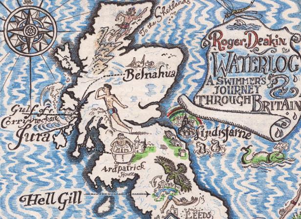 Roger Deakin Waterlog Map