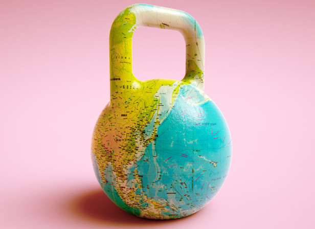 Kettle Weight World Map Men's Health