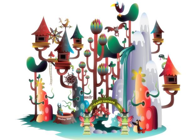 Planet Kamama Online World App Game Books